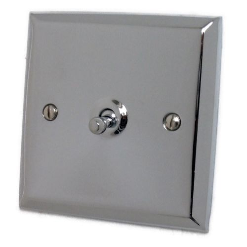 G&H SC281 Spectrum Plate Polished Chrome 1 Gang 1 or 2 Way Toggle Light Switch